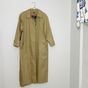 Burberry Vintage Trench Coat Long Womens